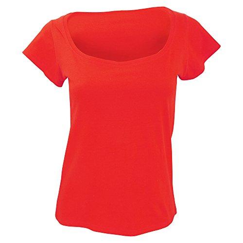 SOLS - Melrose - Maglietta Scollo Ampio - Donna (L) (Rosso)