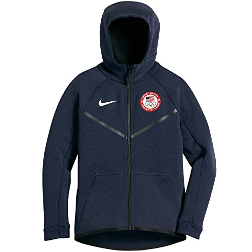 Nike Kids Fleece (NIKE Tech Fleece Team USA Windrunner Big Kids' (Boys'') Hoodie)