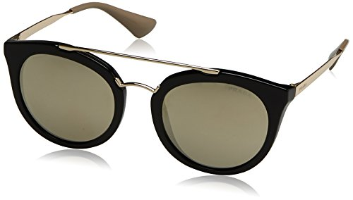 Prada Damen 0PR23SS 1AB1C0 52 Sonnenbrille, Schwarz (Black/Light Brown Gold),