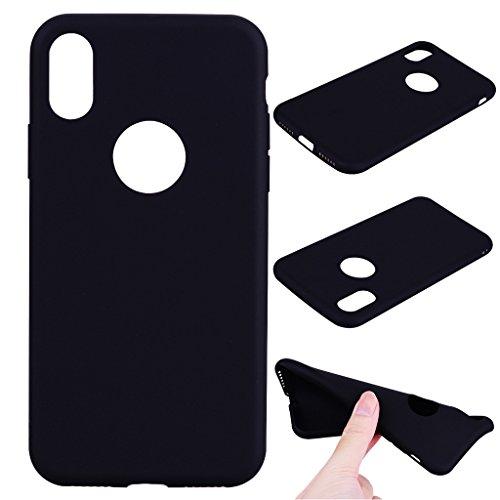 """Hülle für Apple iPhone X , IJIA Rein Grün TPU Weich Handytasche Silikon Stoßkasten Handyhülle Cover Schutzhülle Schale Case Tasche für Apple iPhone X (5.8"""") Black"""