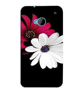 PrintVisa Flower Design 3D Hard Polycarbonate Designer Back Case Cover for HTC One M7