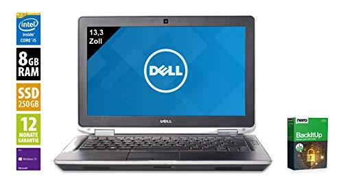 Dell Notebook | Latitude E6330 | 13.3 Zoll Display | Intel Core i5-3340M @ 2,7 GHz | 8GB DDR3 RAM | 250GB SSD | DVD-Brenner | Windows 10 Pro vorinstalliert (Generalüberholt)