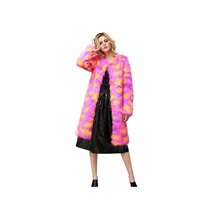 URSING Damen Mantel Pullover Winter Elegant Warm Faux Fur Kunstfell Jacke Kunstpelzmantel Sakko Daunenjacke Outdoorjacke…