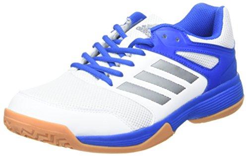 adidas Herren Speedcourt M Handballschuhe, Mehrfarbig (Ftwbla/Nocmét/Blau 000), 44 EU