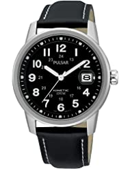 New Pulsar Kinetic Watch PAR087X1 with Black Strap