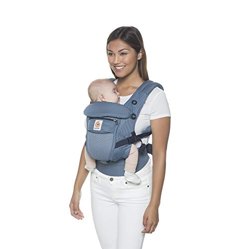 Ergobaby Baby Carrier for Newborn to Toddler up to 20kg, Collection Adapt 3-Position, Ergonomic Child Carriers (Cool Air Mesh Oxford Blue)  Ergobaby