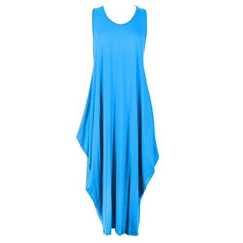Janisramone -  Vestito  - Basic - Senza maniche  - Donna Turquoise