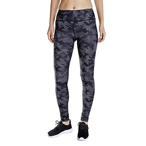 Wgwioo Women'S Sports Yoga Pantalons Impression Fitness Loisirs Quick Dry Extérieur Run Elasticity High Waist Skinny Leggings Workout Gym Throw 1# L