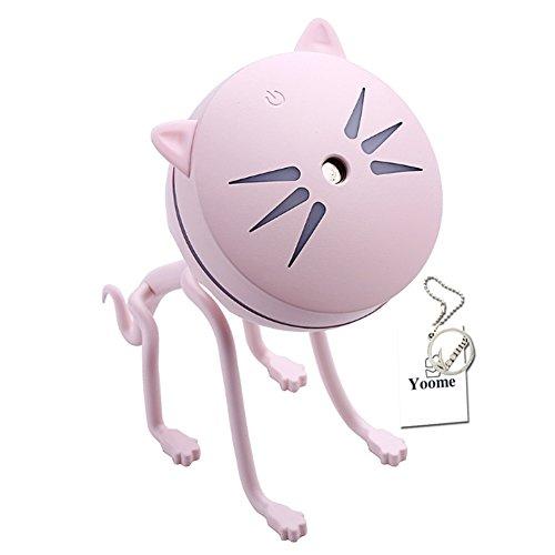 Yoome Mini Cat Aroma Difusor de Aceite Esencial Humidificador de Niebla Fresca para Oficina Estudio en el Hogar Yoga Spa Humidificador de Coche USB
