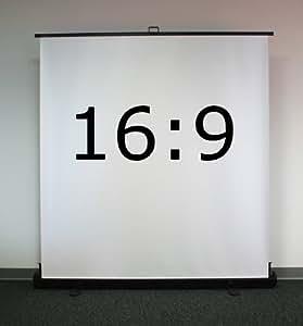 Ecran de projection de sol pantographe 202 x 114 cm - Format 16:9 - Abtus