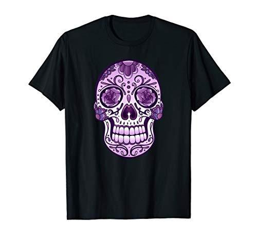Sugar Skull T-Shirt Day Of The Dead. Halloween (Soul Und Blues Kostüme)