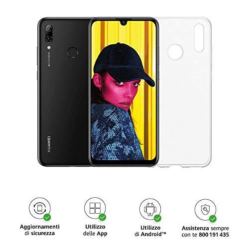 Huawei Psmart 2019 (Nero) più esclusiva cover trasparente, Telefono con 64 GB, Display 6.21' Full HD+, Processore Octa Core...
