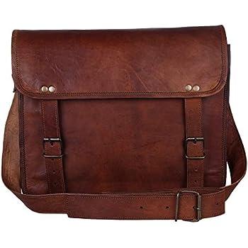 5741feb171 Cuir Vintage Rustic Messenger Courier Crossbody Sac besace Cadeau Hommes  Femmes ~ affaires travail Porte-