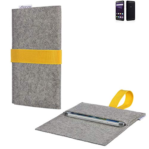 flat.design Handy Hülle Aveiro für ZTE Blade V8 64 GB handgefertigte Filz Tasche für ZTE Blade V8 64 GB