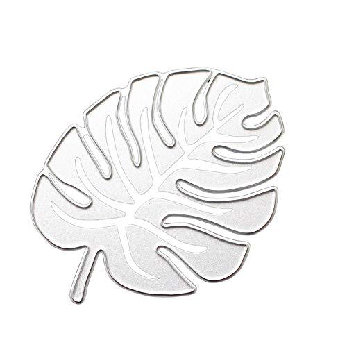 rstanzer, Hibiskusblattstanzer, DIY Stanzformen Papierkunst Album Dekoration Prägung Schablone Papierkarten Herstellung, Silber ()