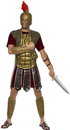 eus Römischer Gladiator Krieger Soldat grichischer Gott Hero historisch Kostüm Kleid Outfit - Mehrfarbig - Mehrfarbig, L (Perseus Gladiator Kostüm)