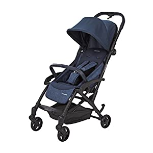 Maxi Cosi Laika Baby Pushchair, Ultra Compact and Lightweight Stroller from Birth, Easy Fold, 0 Months-3.5 Years, 0-15 kg, Nomad Blue GSDZSY ❀ Material: High carbon steel + ABS + rubber wheel, suitable for children from 6 months to 6 years old, maximum load 30 kg ❀ Features: The push rod can adjust the height and control direction, the seat can rotate 360; the baby can lie flat, adjustable umbrella, suitable for different weather conditions ❀ Performance: high carbon steel frame, strong and strong bearing capacity; non-inflatable rubber wheel, suitable for all kinds of road conditions, good shock absorption, seat with breathable fabric, baby ride more comfortable 11