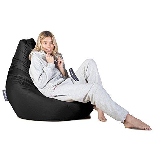 Highback Gaming Sitzsack Loungesessel - Schwarz