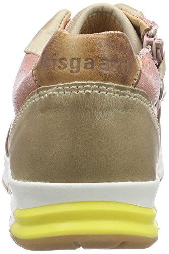 Bisgaard Unisex-Kinder Shoe with Laces Low-Top Pink (154 Glitter-peach)