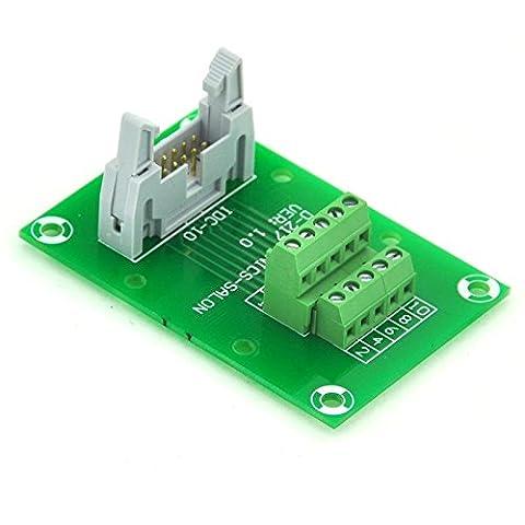 Electronics-salon Idc102x 5broches à 0,3cm mâle Header Breakout Board, bornier, connecteur.