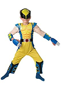 Enfants taille Muscle Wolverine Costume Large (7-8 years)