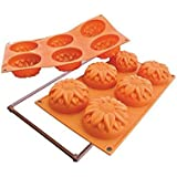 Silikomart Silicone Fancy and Function Bakeware Collection Multi Cake Pan, Sunflower