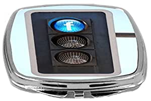 Rikki Knight Compact Mirror, Traffic Light Blue