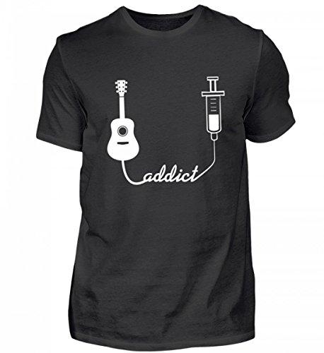 Hochwertiges Herren Shirt - Geschenk für Gitarrist (Gitarristen T-shirt Nur)