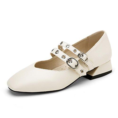 Bouche Peu Profondes de la Femme les Chaussures Plates Chaussures Fines,Rose,Tête Carrée 40