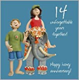 14th Wedding Anniversary Card