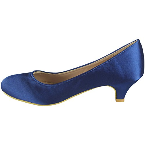 Damen Brautmaid Vornehm Gericht Schuhe Größe 36-41 Marine