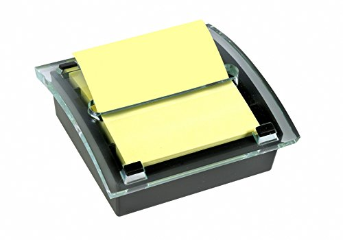 Post-it C2014 Z-Notes Spender (inkl. 1 Block Z-Notes á 100 Blatt, 76 x 76 mm) schwarz/transparent