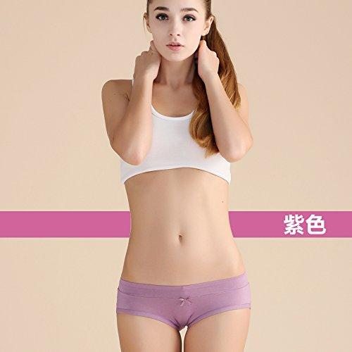 Underpans Unterwäsche Bambusfaser Hosen Mädchen Taille Comfort Damen Slip, Violett Greatlpk Violet