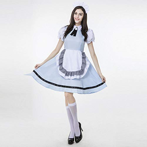 NGHJF Halloween Maid Service Uniform Versuchung Bier Mädchen Kostüm Oktoberfest Kostüm Fancy Party Club Bar Kleid - Einzigartige Ideen Für Fancy Dress Kostüm