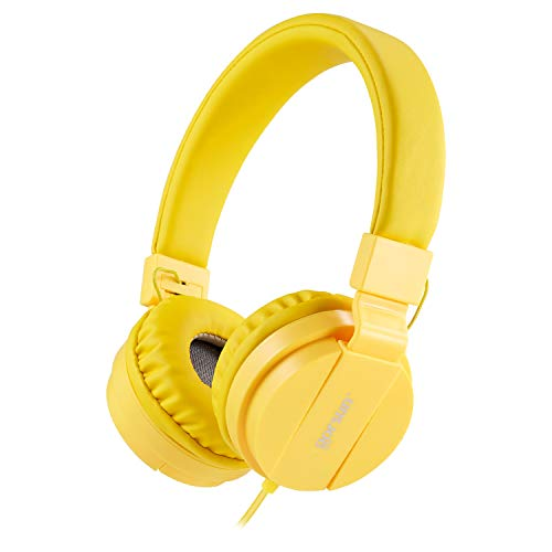 ONTA® gorsun Kopfhörer Kinder Faltbarer Leichte Headsets für Kinder On Ear Audio Kopfhörer für Kinder Handys Smartphones iPhone Laptop Computer mp3 / 4 Kinder Kopfhörer - Gelb - Cd-player Auto-off