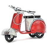Basage Eisen Motor Figuren Archaistisch Haus Dekor Motorrad Roman Holiday Souvenirs Weihnachten Dekoration-Rot -