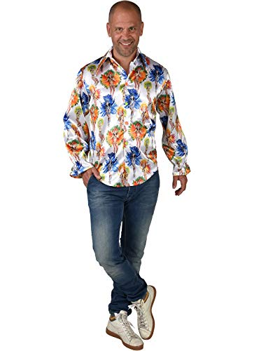 M220254-S bunt Herren Rio Girls Hemd Bluse Salsa Samba Kostüm Brasilien Gr.S=48