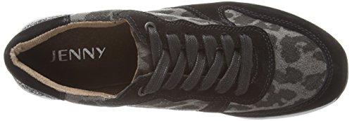 Jenny Granville Damen Sneakers Grau (schwarz,anthrazit -08)