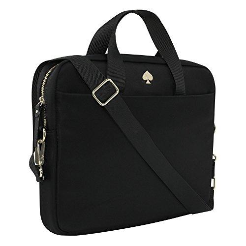 Kate Spade New York Nylon Laptop Tasche [,] passt 33cm Apple MacBook, 33cm Laptops, und 33cm Tablets–Schwarz - Notebook-tasche Kate Spade