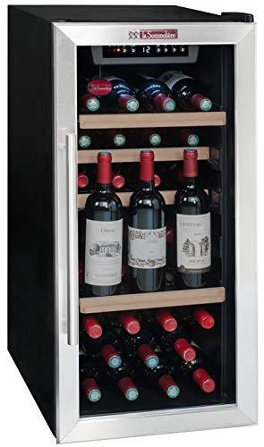 La Sommeliere LS38A Cave à Vin de mise à température - 38 bouteilles - Système de préservation de vin intégré - 3 bouteilles ouvertes - Faible encombrement Classe: A