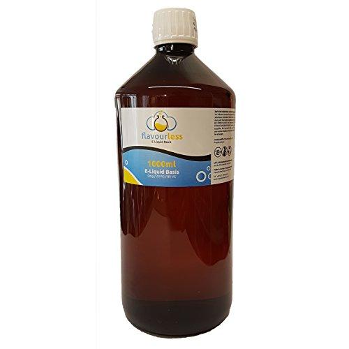 Premium Liquid Base flavourless - 0mg/ml - 1000ml - 80% VG / 20% PG