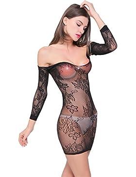 Sexy gonna corta Hollow sexy seduzione net abbigliamento, Black, M
