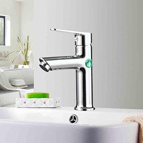 Salle de bains Lavabo robinet d'eau Salle de bains Hot And Cold Wash Basin Faucet mitigeur trou unique