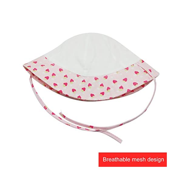 Happy Cherry - Sombrero Pescador para Bebés Recien Nacido Niñas 0 Meses-4 años Suave Gorro de Sol con ala Infantil para… 4