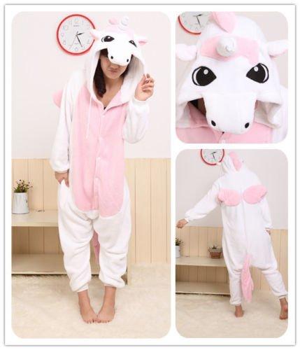 unicorn-unisex Einteiler/Kapuzenkostüm/Schlafanzug tragen, Unicorn Pink, (Pink Unicorn Hoodie Erwachsene Kostüme)
