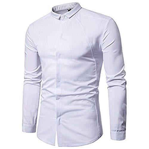 UJUNAOR Oktoberfest Herren Herrenhemd Bluse Top Slim Fit -