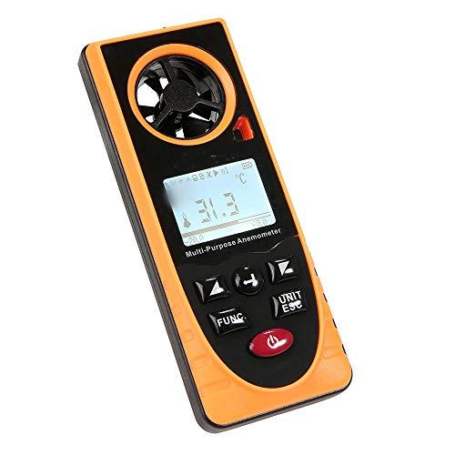 SUIWO Windmesser Anemometer Handdigital Windgeschwindigkeit Meter-Messgerät Luftströmungsgeschwindigkeit Thermometer Multi-Funktions-und Hygrometer Atmosphärischer Druck Illuminometer Höhe Ambient Lig