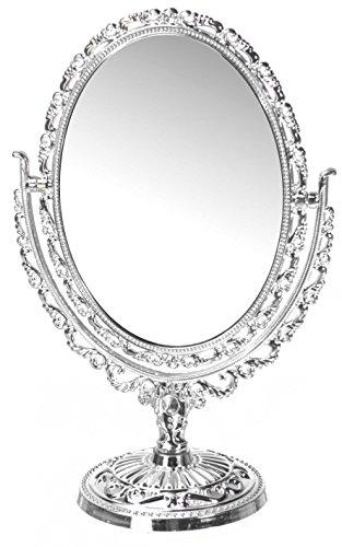 Beidseitiger Makeup Spiegel mit Ovaler Form im Barock-Stil
