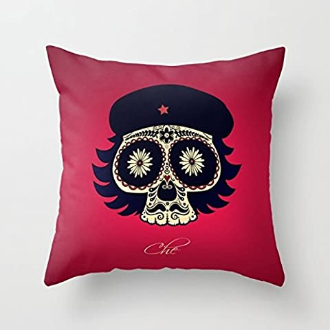 Bestseason Throw Christmas Pillow Covers Of Skull 20 X 20 Inches / 50 By 50 Cm Best Fit For Study Room Couch Festival Monther Saloon Wife Each Side
