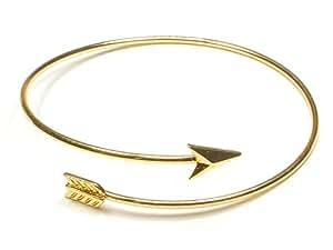 Bracelet Jonc Arrowhead avec flèche plaqué or réglable